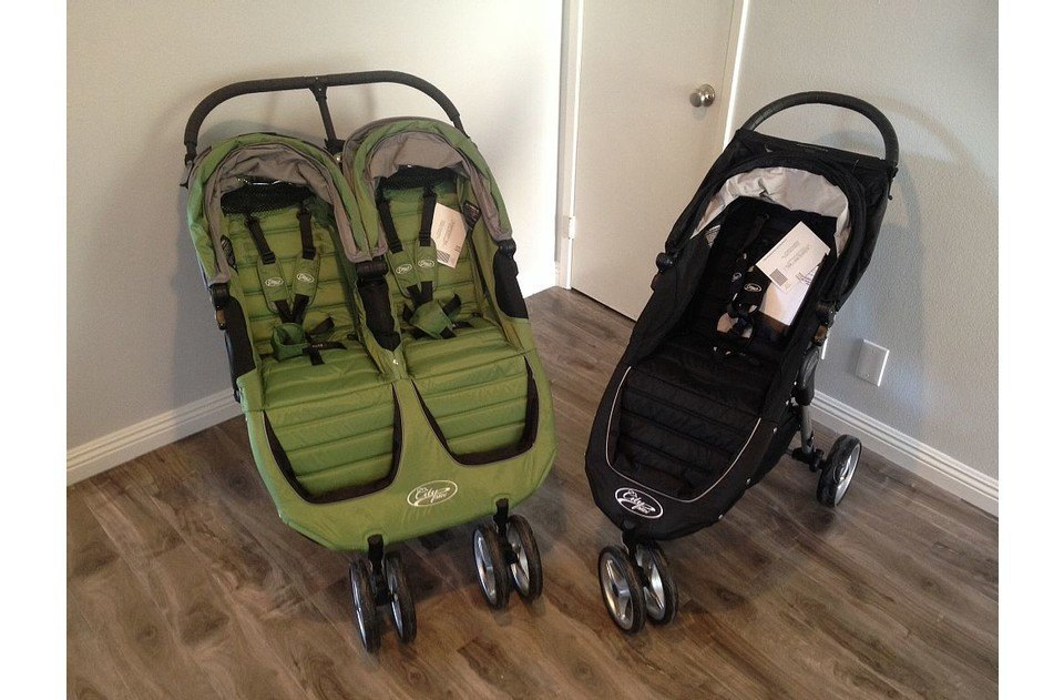 For your convenience, two fabulous City Mini strollers, a double and a single