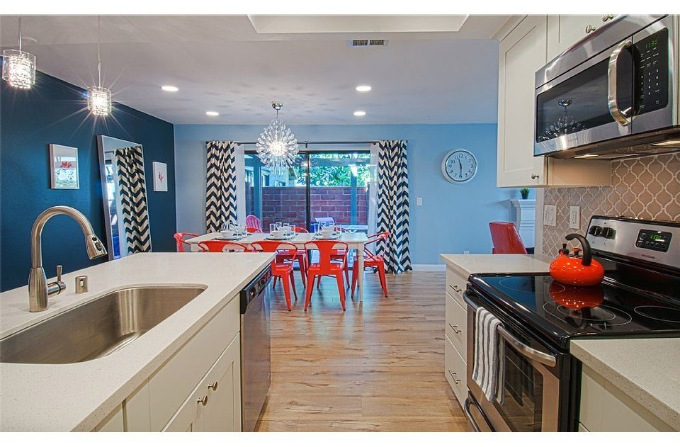 Kitchen flows into dining and living area. Great gathering place for your family