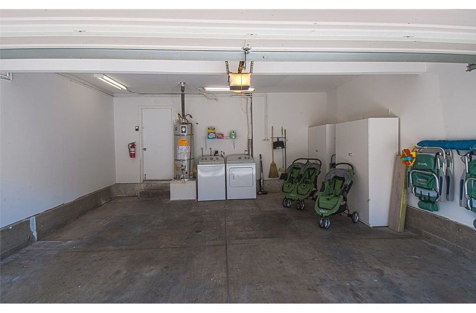 We offer an attached 2 car garage with laundry and double/single strollers.